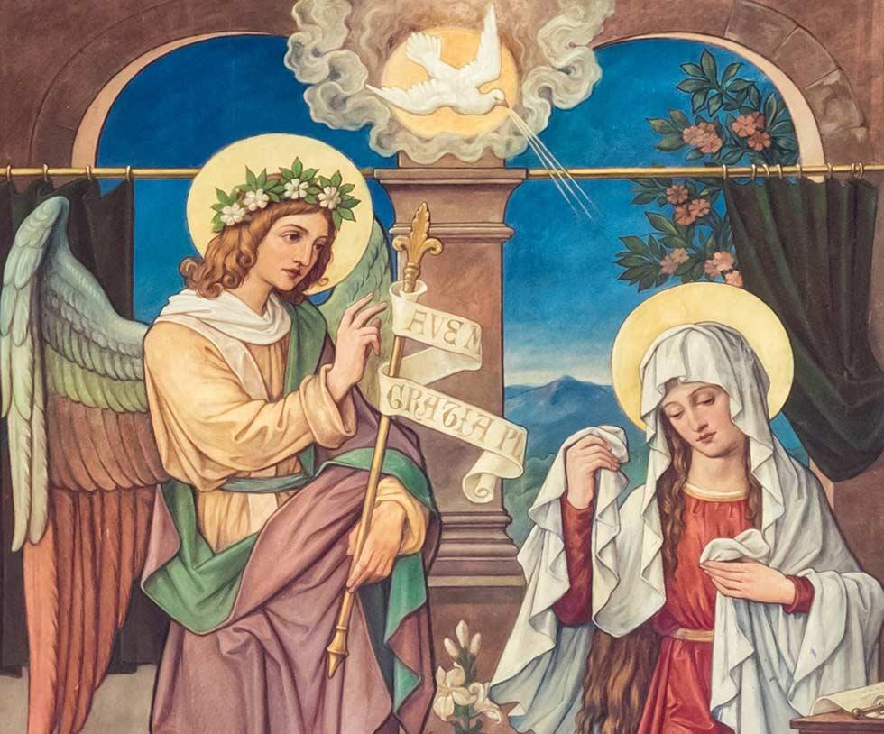 ангел Гавриил и Мария