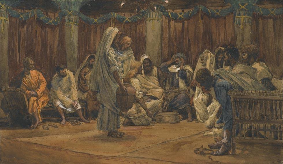 Иисус умывает ноги ученикам