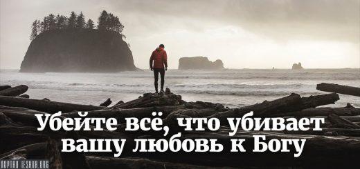 Убейте всё, что убивает вашу любовь к Богу