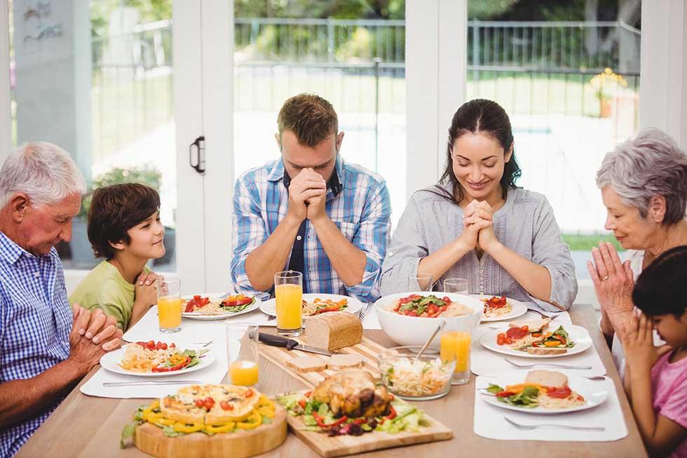 молитва перед едой