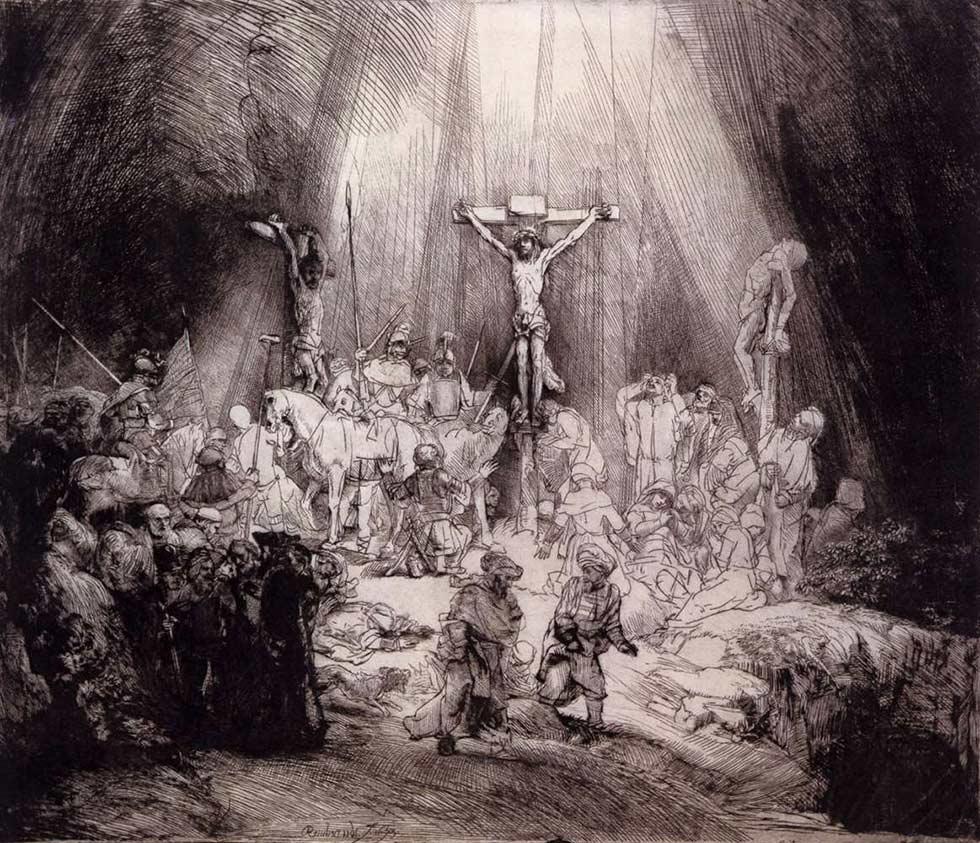 распятие Иисуса Христа, Рембрандт