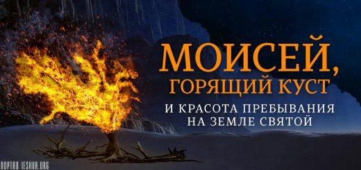 Моисей, горящий куст и красота пребывания на земле святой