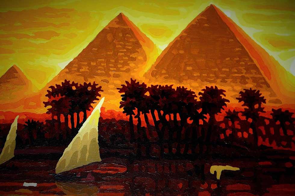 картина - египетские пирамиды
