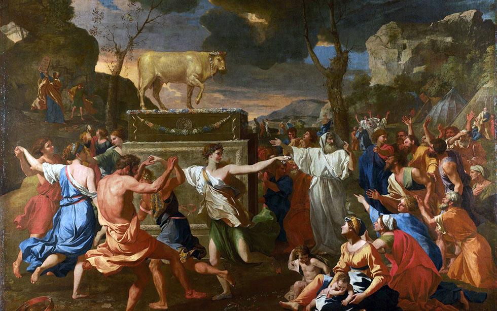 Моисей, Израильтяне и золотой телец
