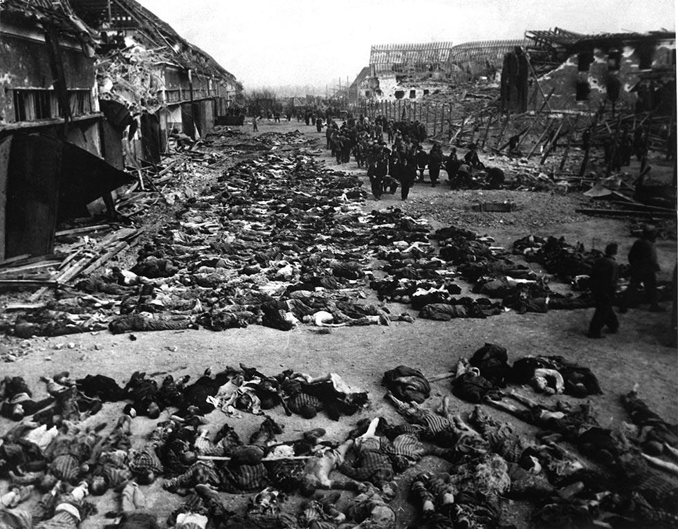 Концентрационный лагерь Нордхаузен, апрель 1945 года