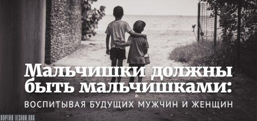 Мальчишки должны быть мальчишками: воспитывая будущих мужчин и женщин