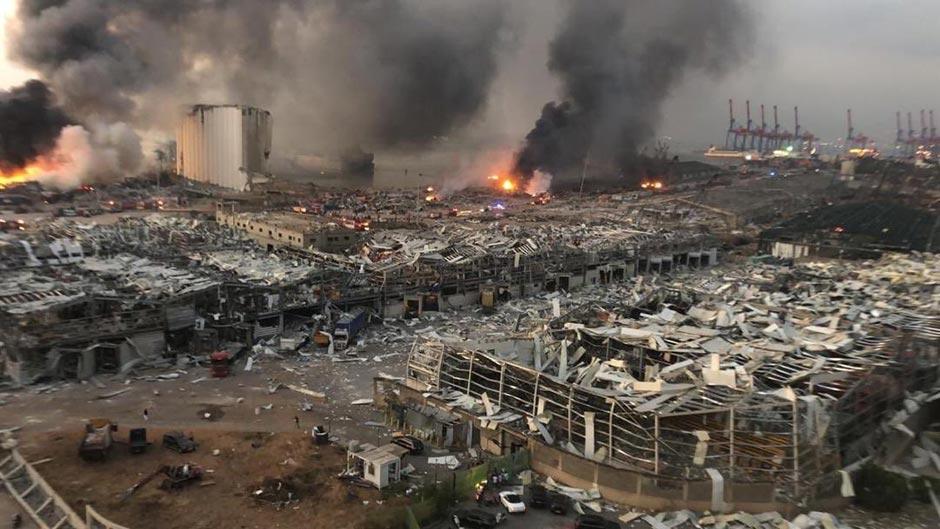 Взрыв в порту Бейрута: есть погибшие, более двух тысяч пострадавших